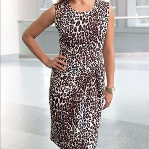 NWT 12W Sheath sleeveless Animal Print dress